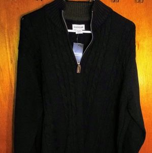 NWT! ZIPPER ZIP UP KNIT SWEATER